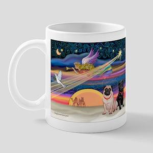 Xmas Star/Two Pugs (FB2) Mug