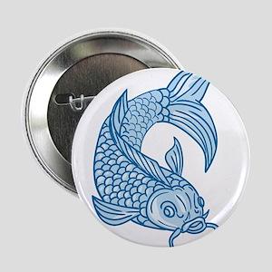 """Koi Nishikigoi Carp Fish Diving Down Drawing 2.25"""""""