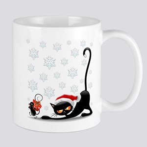 Christmas funny cats Mugs