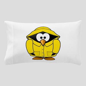Penguin in the rain Pillow Case