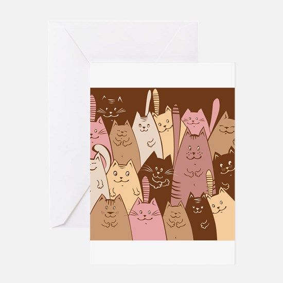 Different funny cat design Greeting Cards