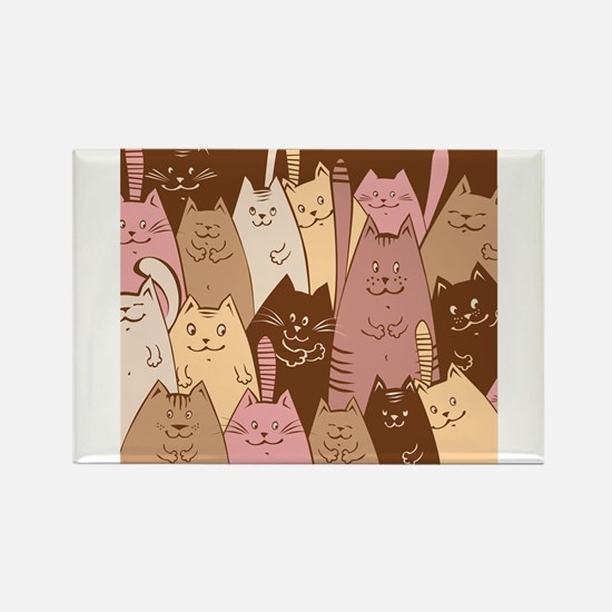 Different funny cat design Magnets