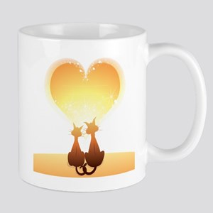 Cat love valentine Mugs