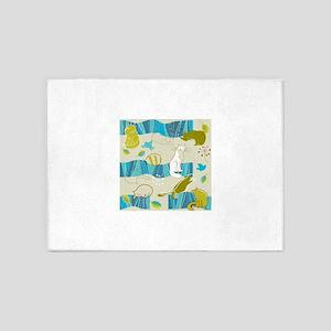 Cute cartoon pattern 5'x7'Area Rug