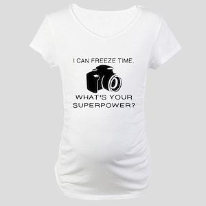CAMERA/PHOTOGRAPHER - I CAN FREE Maternity T-Shirt