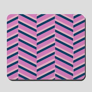 Pink Herringbone Mousepad