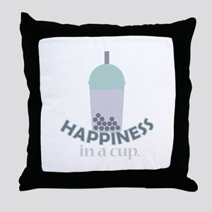 Happiness Cup Throw Pillow