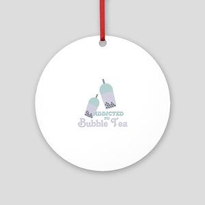 Bubble Tea Round Ornament