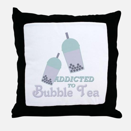Bubble Tea Throw Pillow