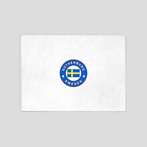 Gothenburg Sweden 5'x7'Area Rug