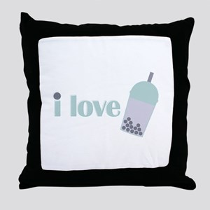 Love Bubble Tea Throw Pillow
