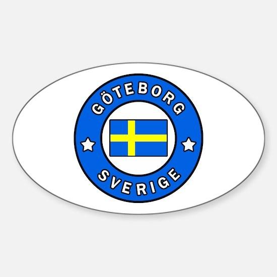 Unique Swedish pride Sticker (Oval)