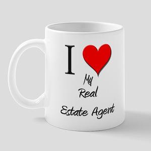 I Love My Real Estate Agent Mug