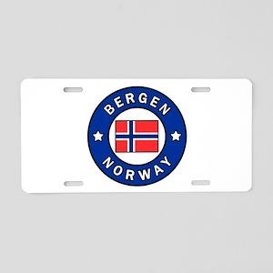 Bergen Norway Aluminum License Plate