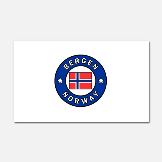 Bergen Norway Car Magnet 20 x 12