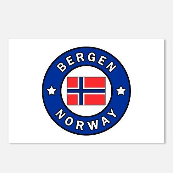 Bergen Norway Postcards (Package of 8)