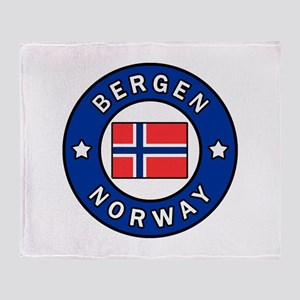 Bergen Norway Throw Blanket