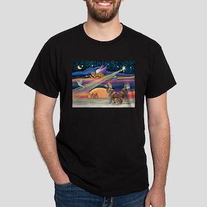 XmasStar/2 Red Huskies Dark T-Shirt