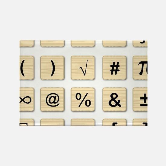 Cute Math symbol Rectangle Magnet