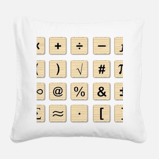 Cute Symbols Square Canvas Pillow