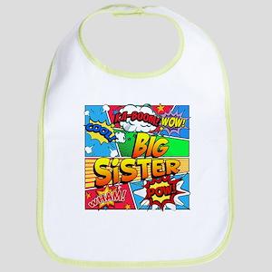 Big Sister Comic Book Cotton Baby Bib