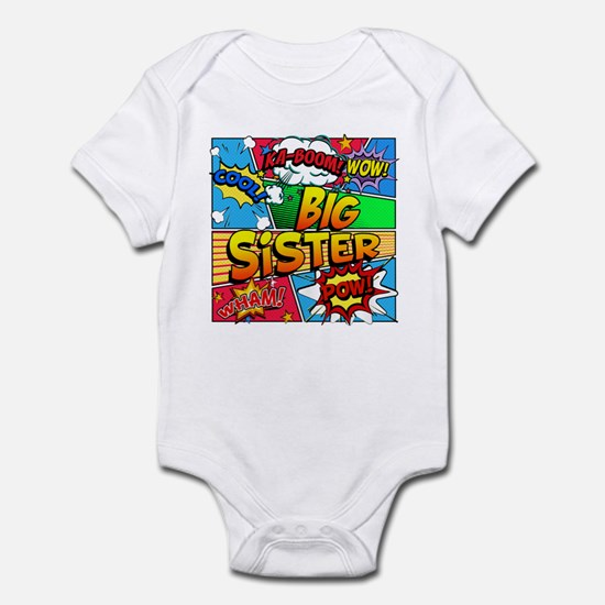 Big Sister Comic Book Infant Bodysuit