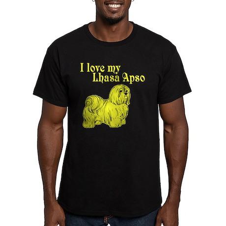 I Love my Dog Men's Fitted T-Shirt (dark)
