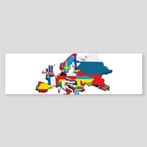 Flags map of Europe Bumper Sticker