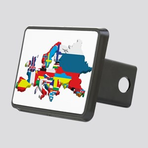 Flags map of Europe Rectangular Hitch Cover