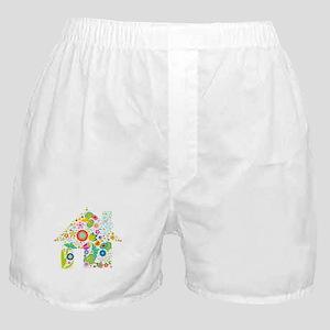 Hut floral design Boxer Shorts