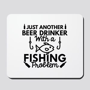 Beer Drinker Fishing Mousepad
