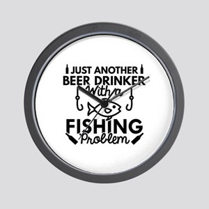 Beer Drinker Fishing Wall Clock