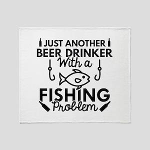 Beer Drinker Fishing Stadium Blanket