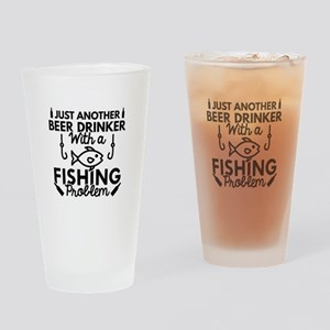 Beer Drinker Fishing Drinking Glass