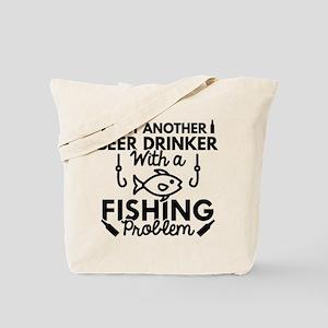 Beer Drinker Fishing Tote Bag