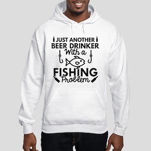 Beer Drinker Fishing Hooded Sweatshirt
