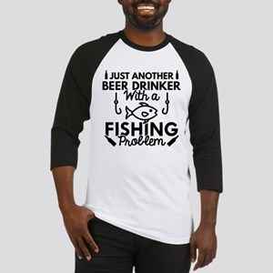 Beer Drinker Fishing Baseball Jersey