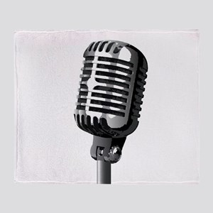 Isolated Stage Mic Throw Blanket