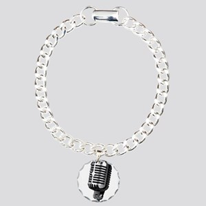 Isolated Stage Mic Charm Bracelet, One Charm