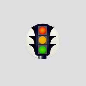 Hooded Traffic Lights Mini Button