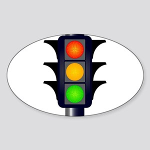 Hooded Traffic Lights Sticker