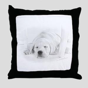 Lab Pup-Nap Throw Pillow