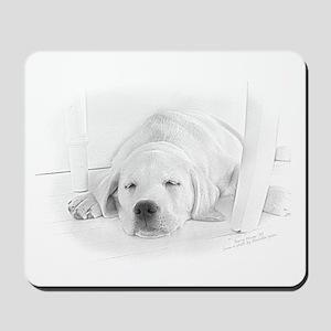 Lab Pup-Nap Mousepad