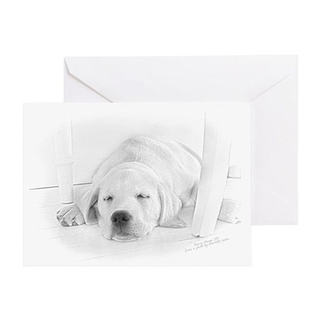 Lab Pup-Nap Greeting Card