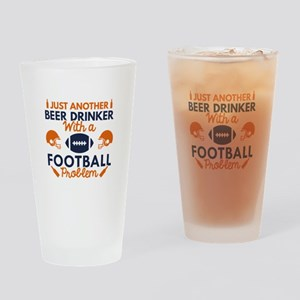 Beer Drinker Football Drinking Glass
