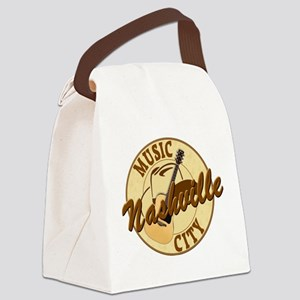 Nashville Music City-LT-8 Canvas Lunch Bag