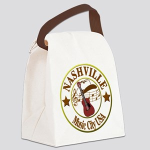 Nashville Music City USA-LT Canvas Lunch Bag