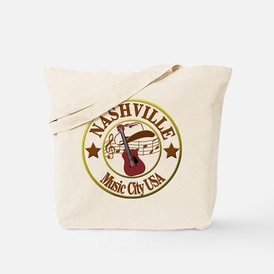 Nashville Music City USA-LT Tote Bag