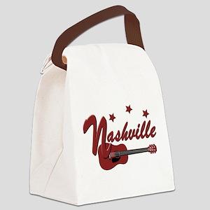 Nashville TN-BRN Canvas Lunch Bag