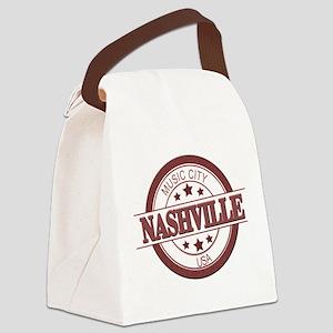 Nashville Music City-CIR Canvas Lunch Bag